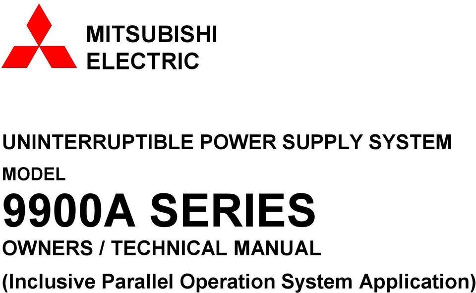 MITSUBISHI ELECTRIC UNINTERRUPTIBLE POWER SUPPLY SYSTEM