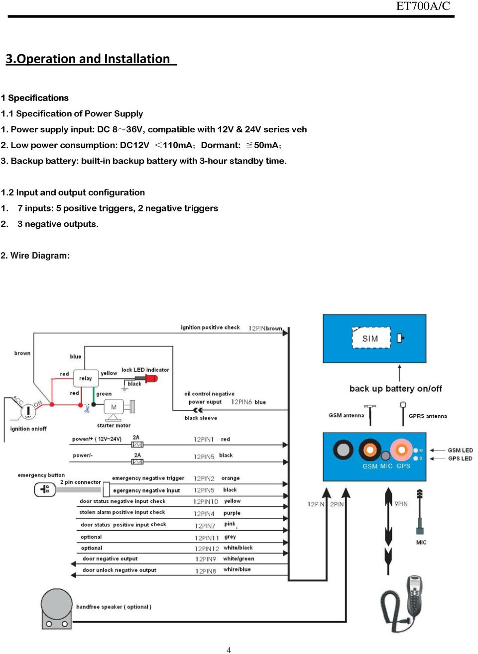 medium resolution of wire diagram 4 low power consumption dc12v 110ma dormant 50ma