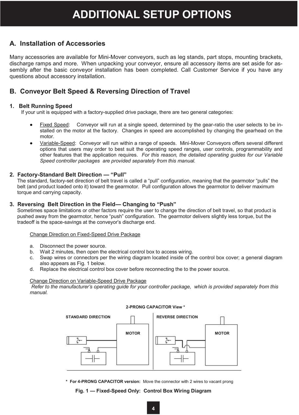 medium resolution of  wiring diagram 4 call customer service if you have any questions about accessory installation b conveyor belt