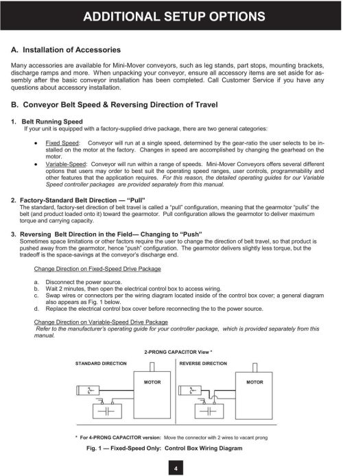 small resolution of  wiring diagram 4 call customer service if you have any questions about accessory installation b conveyor belt