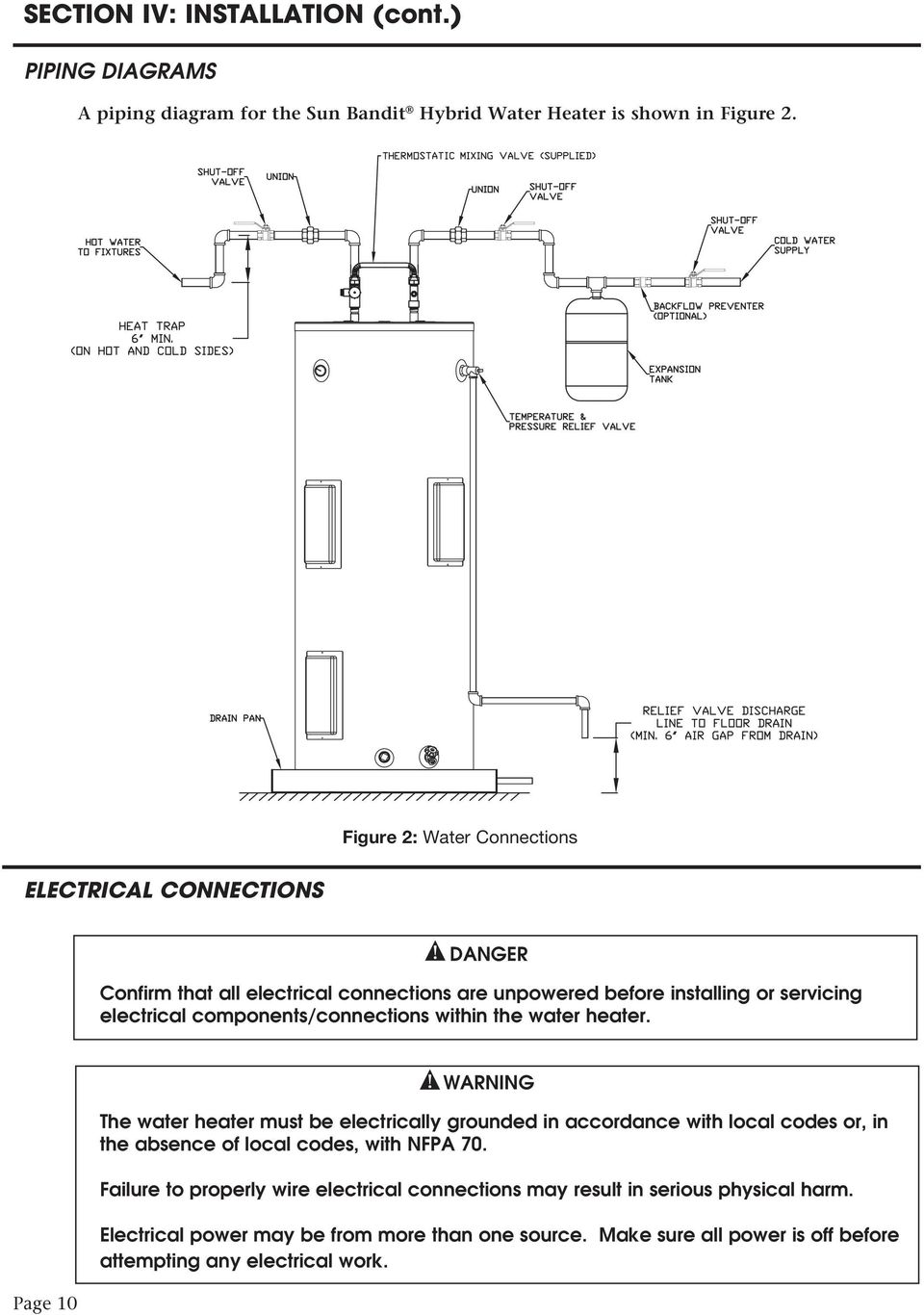 medium resolution of components connections within the water heater