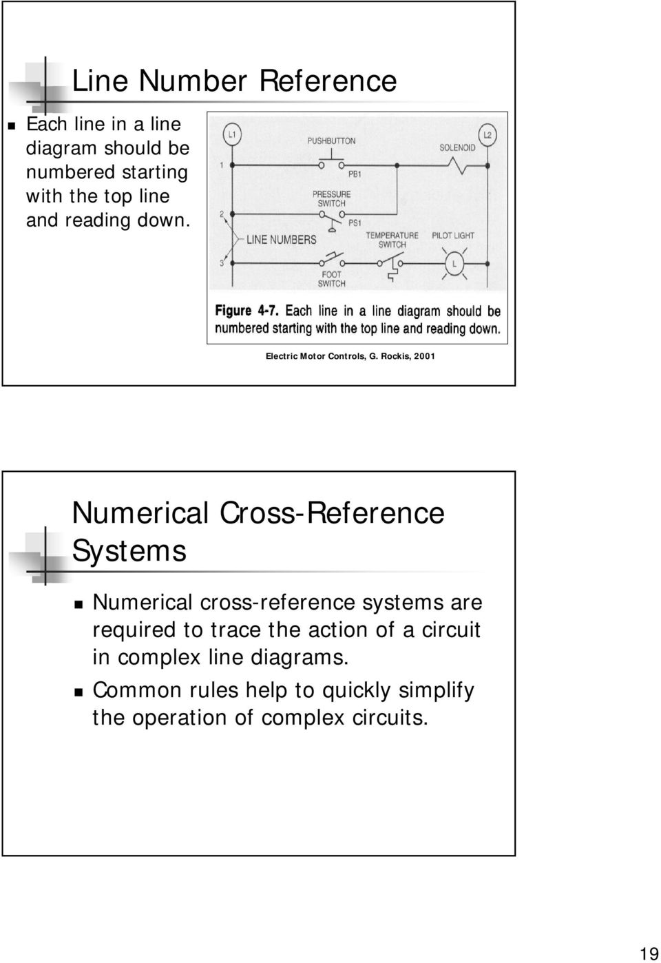 hight resolution of numerical cross reference systems numerical cross reference systems are required