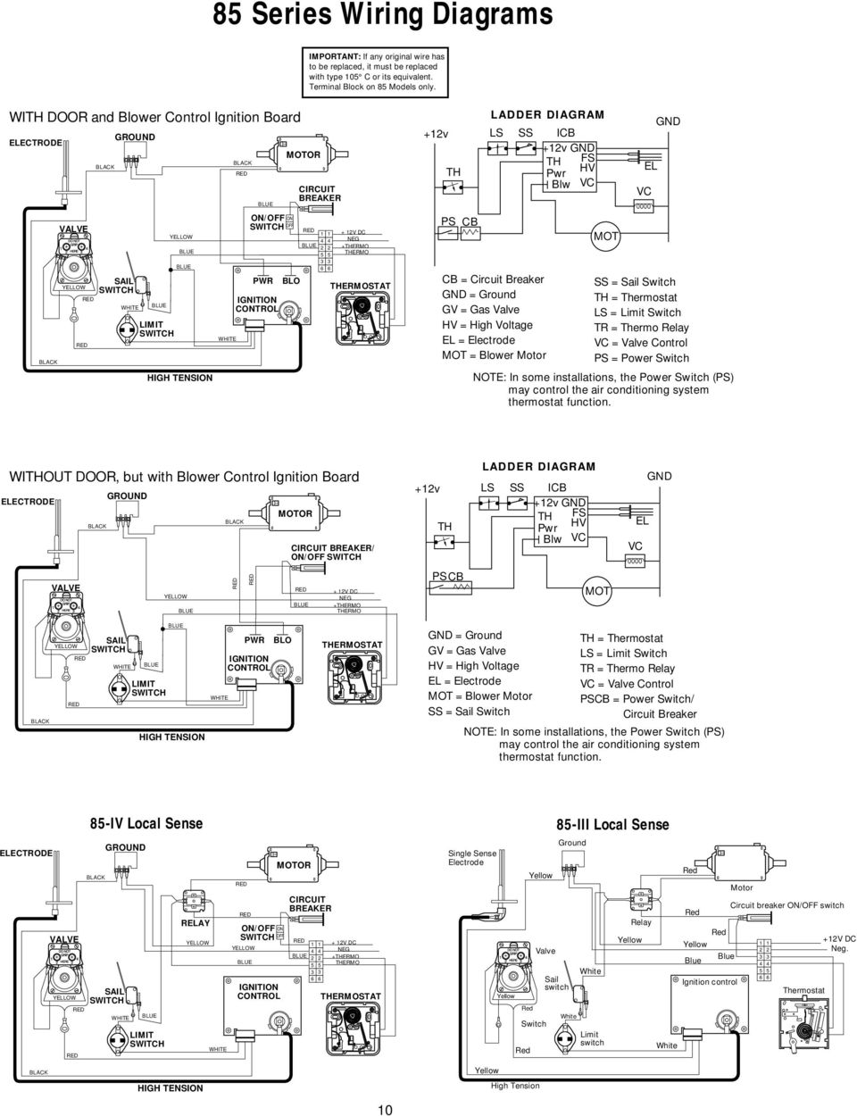 hight resolution of limit switch blue blue white blue pwr ignition control blo blue 4 2 5 3 6 11 85 series wiring diagrams