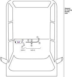 diagram for routing flexible tube 7 4 5 8 6 option a option b option a [ 960 x 1471 Pixel ]