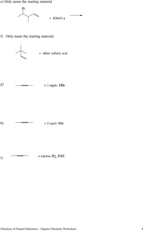 small resolution of Worksheets for Organic Chemistry - PDF Free Download