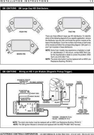 MSD 7AL2 Ignition PN 7220, 7224, 7226, PDF