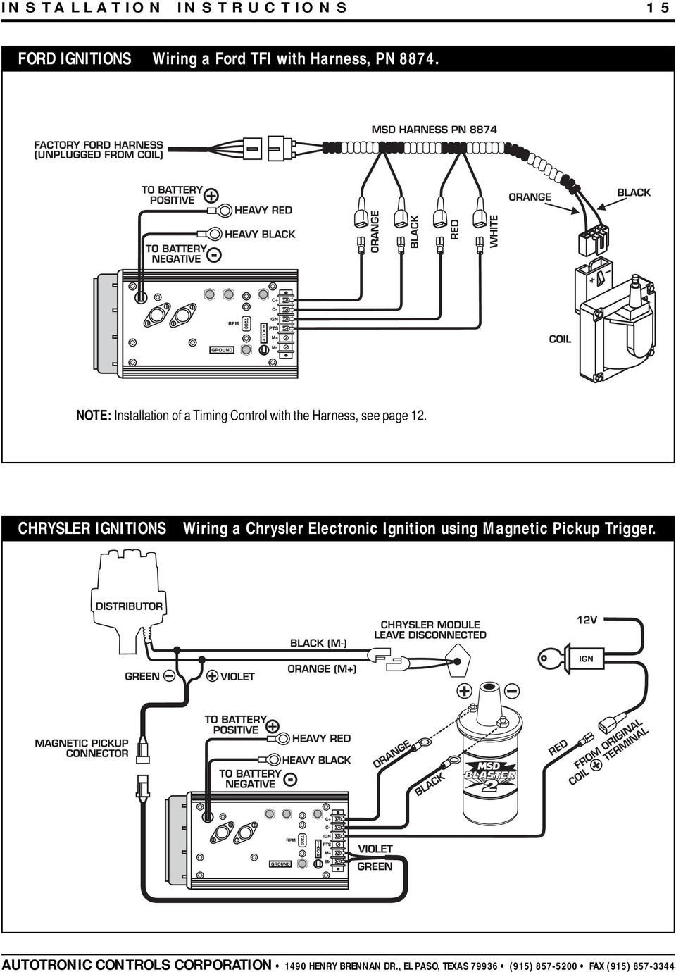 medium resolution of note installation of a timing control with the harness see