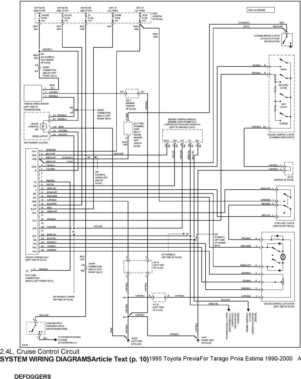 medium resolution of 1995 system wiring diagrams toyota previa 2 4l sc a c circuit mass air flow sensor circuit diagram 91 previa headlight circuit diagram