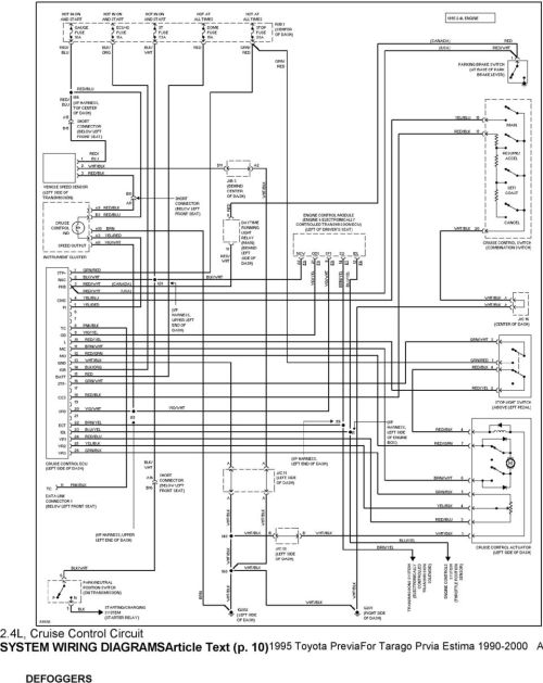 small resolution of 1995 system wiring diagrams toyota previa 2 4l sc a c circuit mass air flow sensor circuit diagram 91 previa headlight circuit diagram