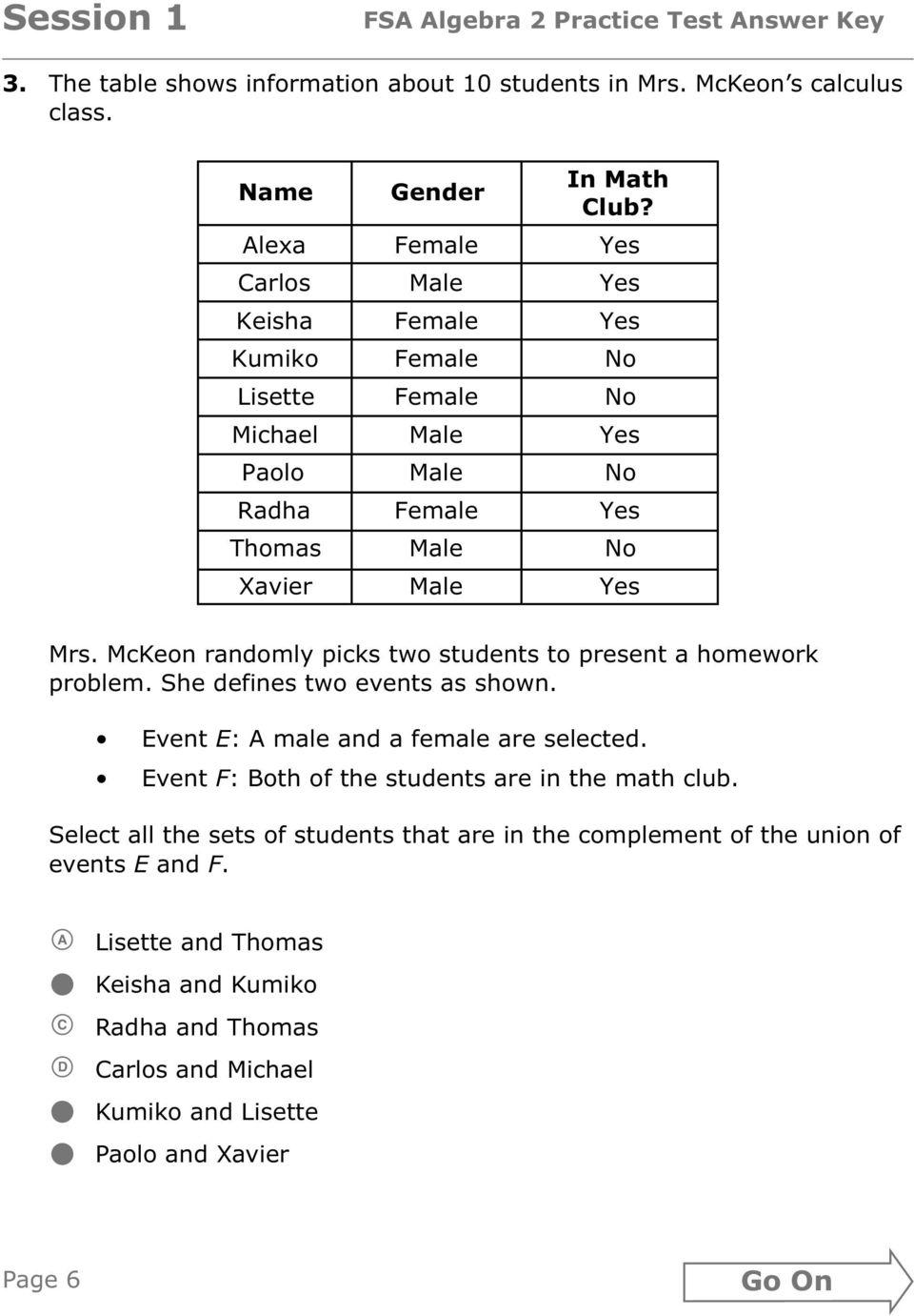 Fsa Practice Test Book Mathematics Grade 5 Answer Key