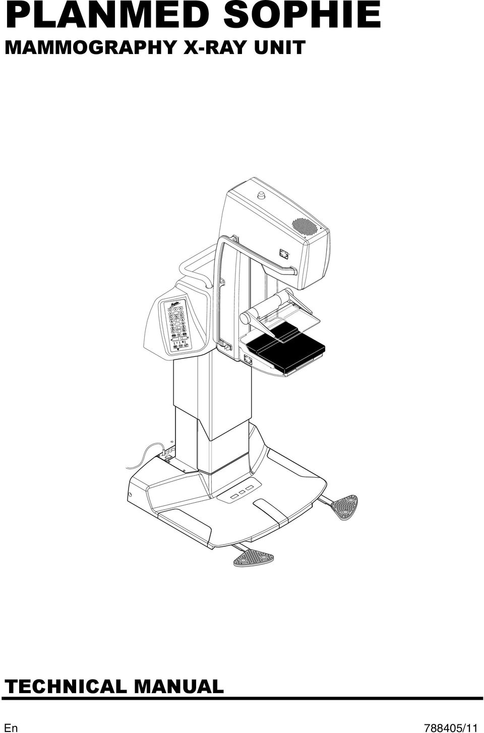 PLANMED SOPHIE MAMMOGRAPHY X-RAY UNIT TECHNICAL MANUAL /11