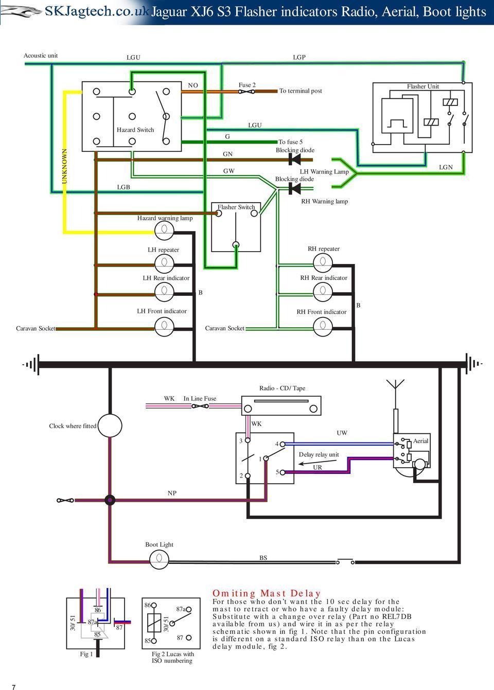 medium resolution of cd tape clock where fitted 3 2 wk 1 4 5 delay relay unit ur 8 jaguar xj6