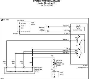 SYSTEM WIRING DIAGRAMS AC Circuit 1994 Suzuki Swift For x