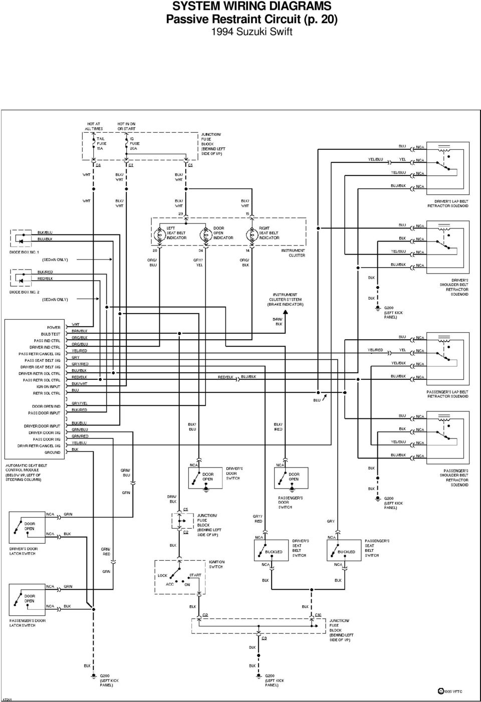 SYSTEM WIRING DIAGRAMS A/C Circuit 1994 Suzuki Swift For x