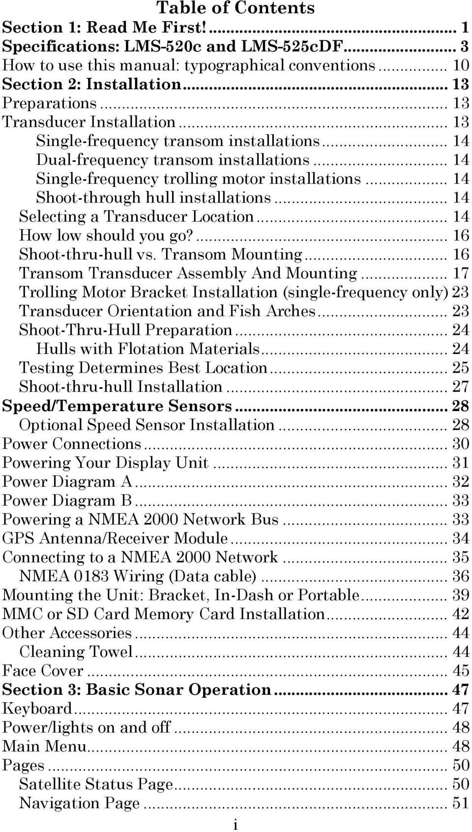 medium resolution of  lms 520c lms 525c df pdf on lowrance power diagram lowrance