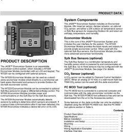 jade economizer module model w7220 pdf rh docplayer net carrier economizer wiring diagram transformer wiring diagrams [ 960 x 1340 Pixel ]