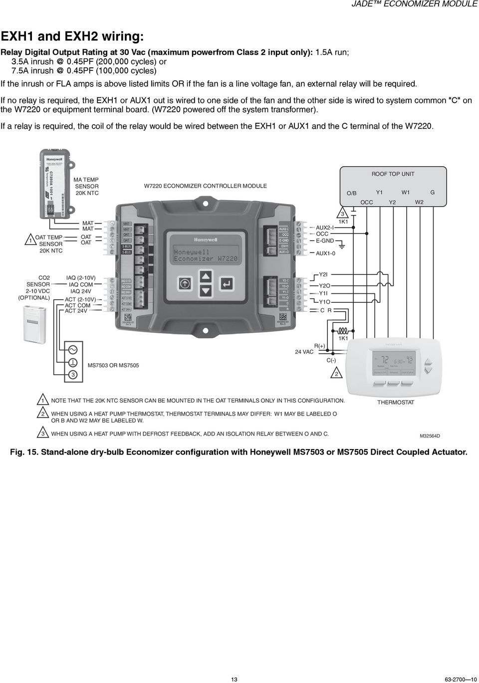 medium resolution of if no relay is required the exh or aux out is wired to one side