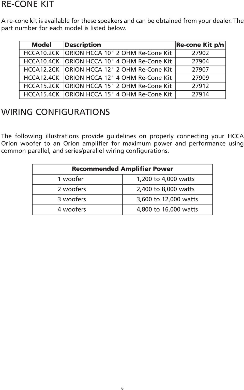 hight resolution of subwoofer hcca pdf orion hcca 12 box specs orion hcca 15 wiring diagram