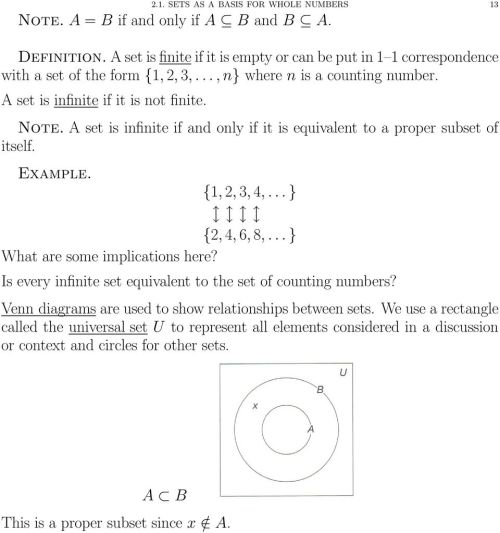 small resolution of a set is infinite if and only if it is equivalent to a proper subset of