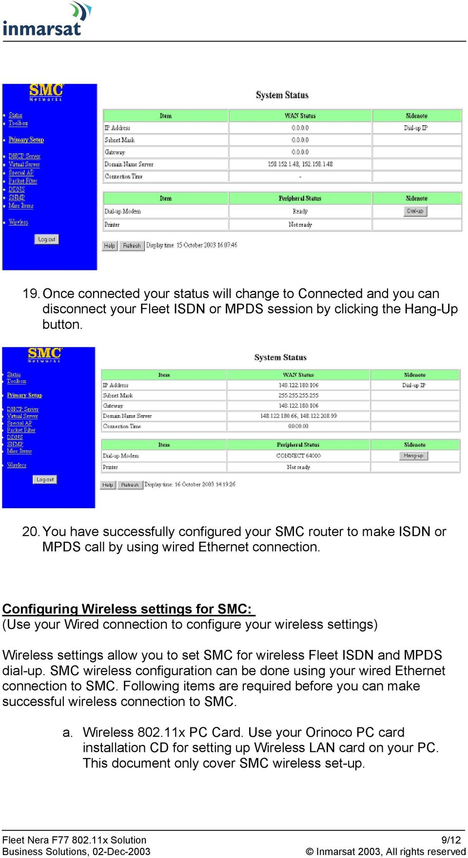 medium resolution of configuring wireless settings for smc use your wired connection to configure your wireless settings