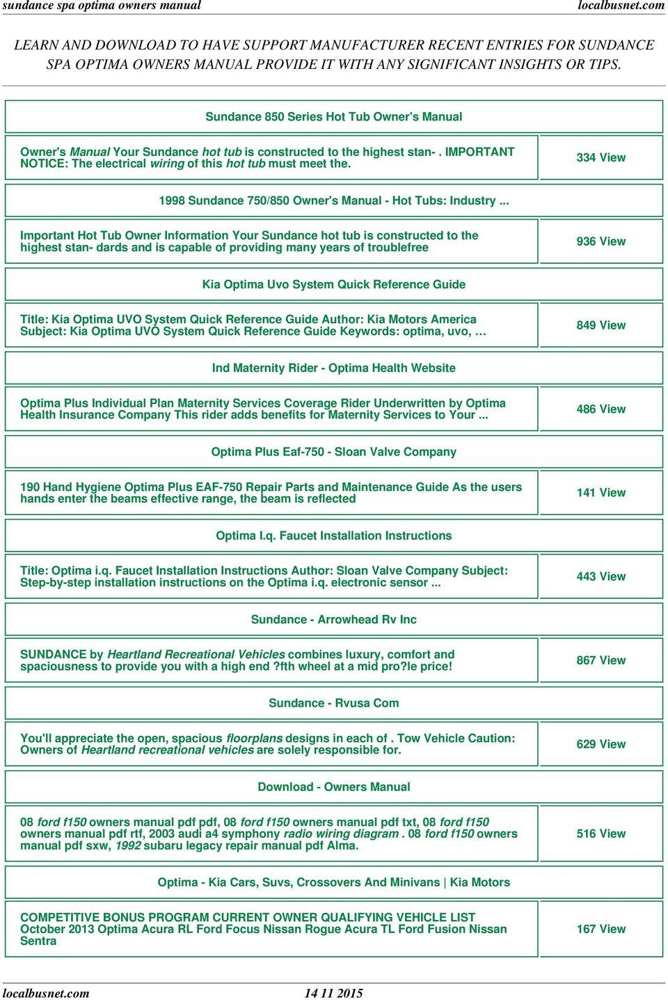 medium resolution of sundance spa optima owners manual pdf