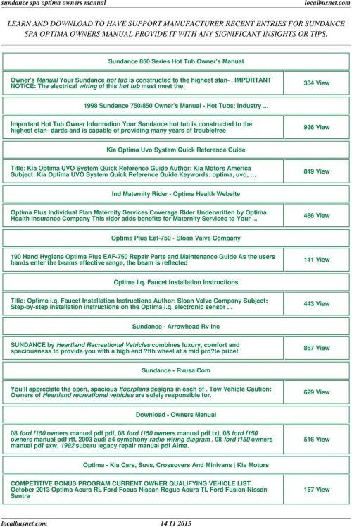 small resolution of sundance spa optima owners manual pdf