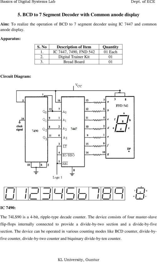 small resolution of bread board 01 circuit diagram ic 7490 the 74ls90 is a 4 bit