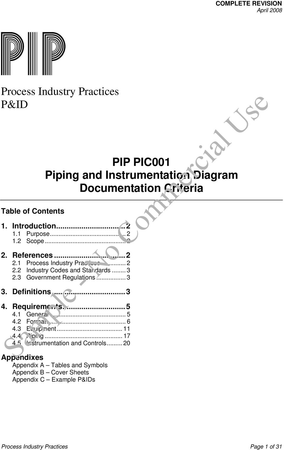 hight resolution of piping and instrumentation diagram guidelines