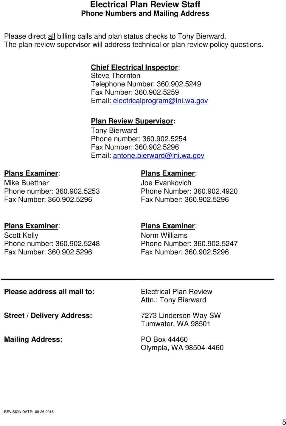 medium resolution of electrical plan review submittal guide pdfwa gov plan review supervisor tony bierward phone number 360 902