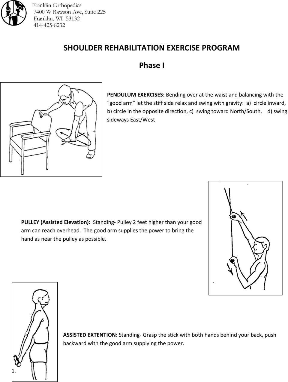 shoulder rehabilitation exercise program