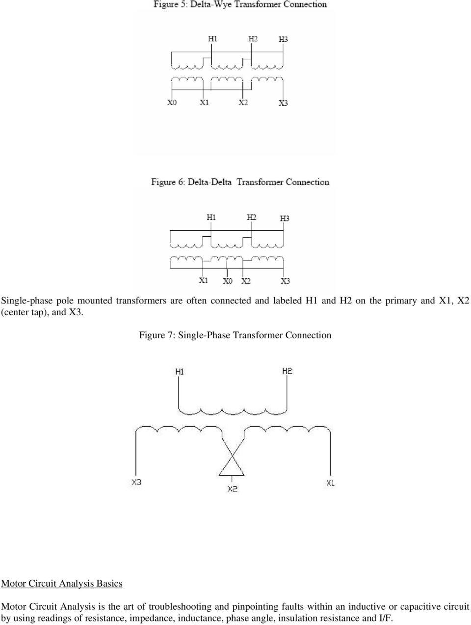 medium resolution of figure 7 single phase transformer connection motor circuit analysis basics motor circuit analysis is