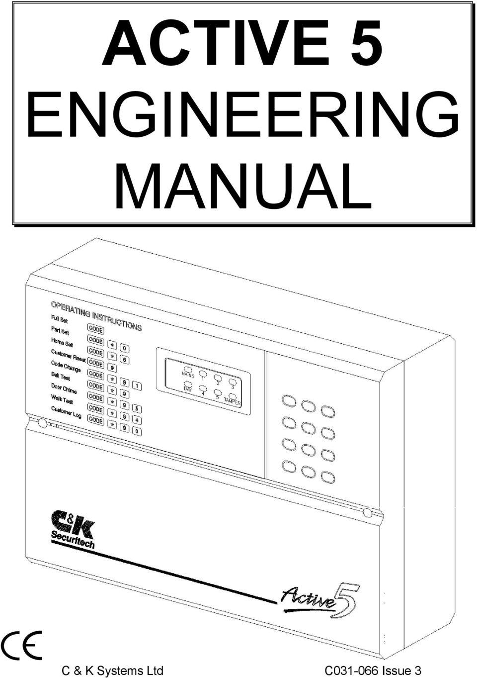 C & k alarm system manual