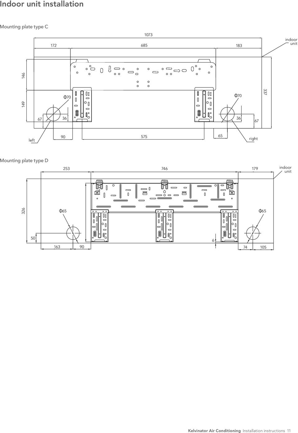hight resolution of kelvinator air conditioning installation instructions 11 mounting plate type d 253 746