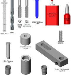 6 northstar kit includes ns300l insert system m11x1 5 head bolt thread repair for [ 960 x 1366 Pixel ]