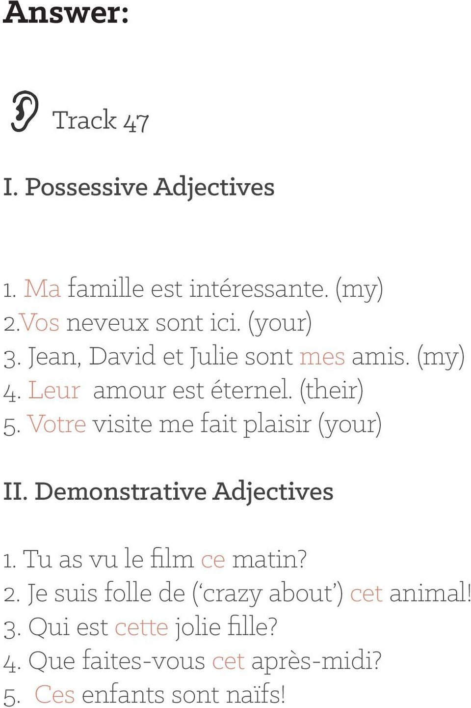 medium resolution of Day 17: Possessive and Demonstrative Adjectives - PDF Free Download