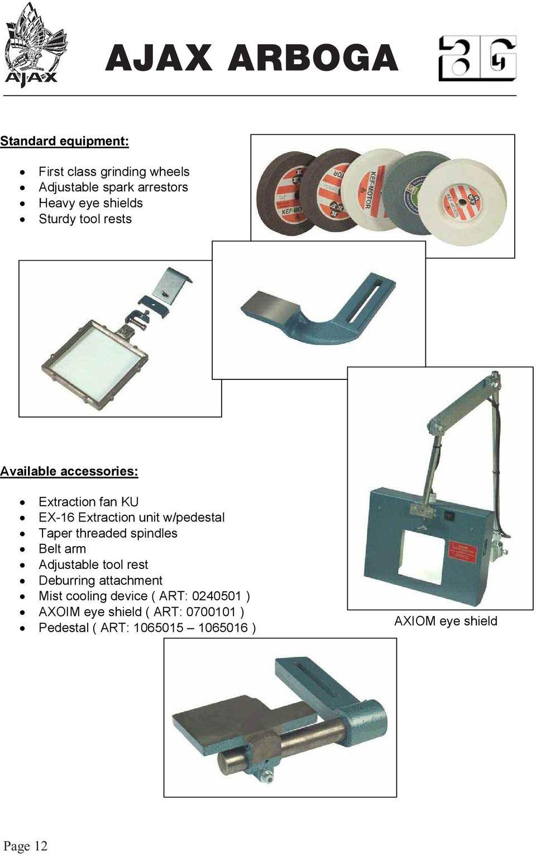 medium resolution of threaded spindles belt arm adjustable tool rest deburring attachment mist cooling device art