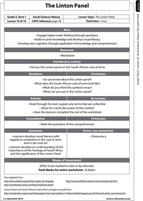 small resolution of The Linton Panel. Resources Worksheet Introductory activity Discuss the  Linton panel on the South African coat of Arms - PDF Free Download
