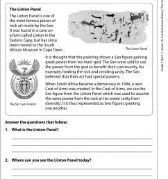 The Linton Panel. Resources Worksheet Introductory activity Discuss the  Linton panel on the South African coat of Arms - PDF Free Download [ 1346 x 960 Pixel ]