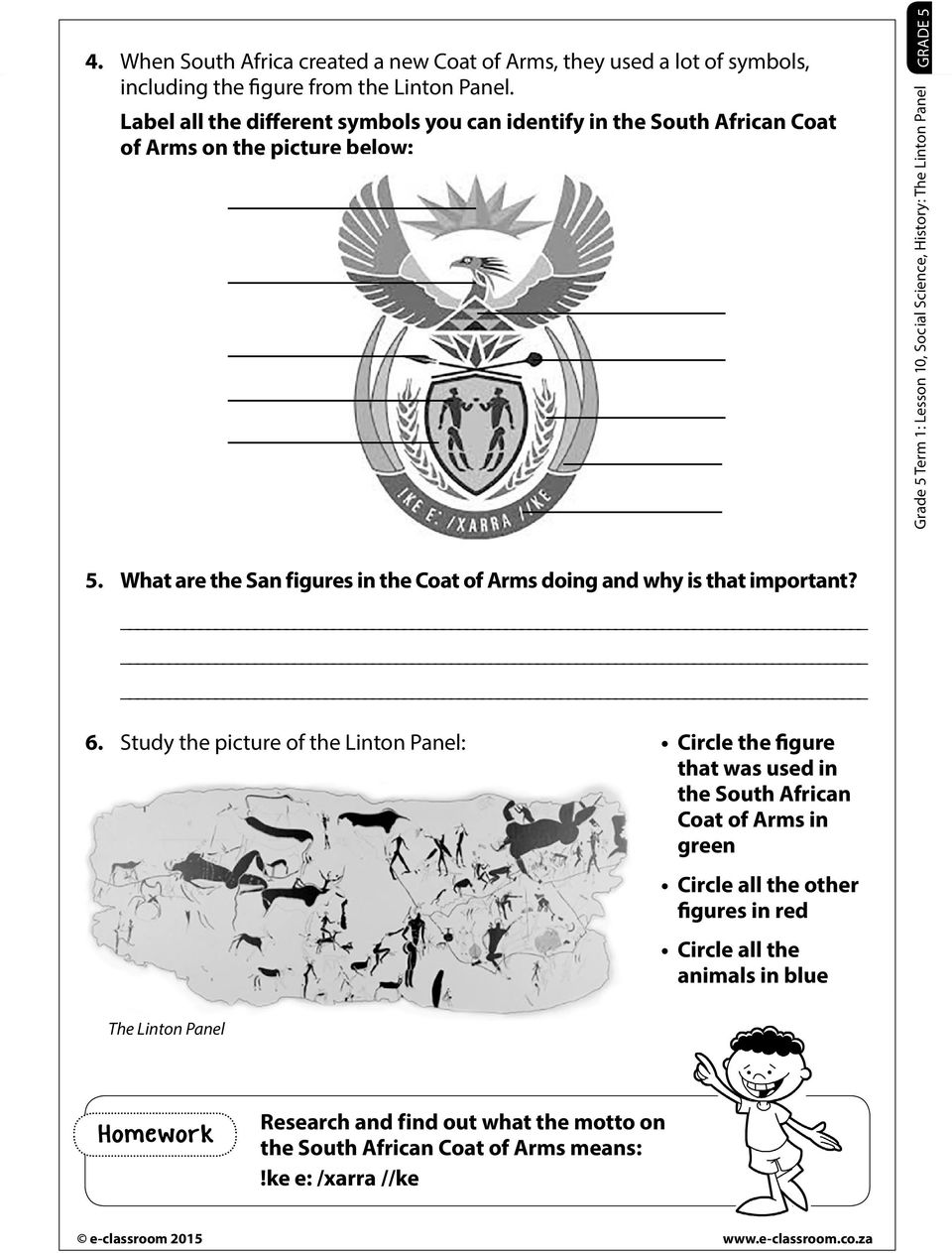 medium resolution of The Linton Panel. Resources Worksheet Introductory activity Discuss the  Linton panel on the South African coat of Arms - PDF Free Download