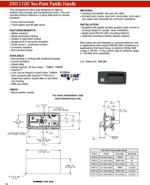 small resolution of trimark keypad wiring diagram wiring librarycontoured surface corrosion resistant non handed design non locking or locking