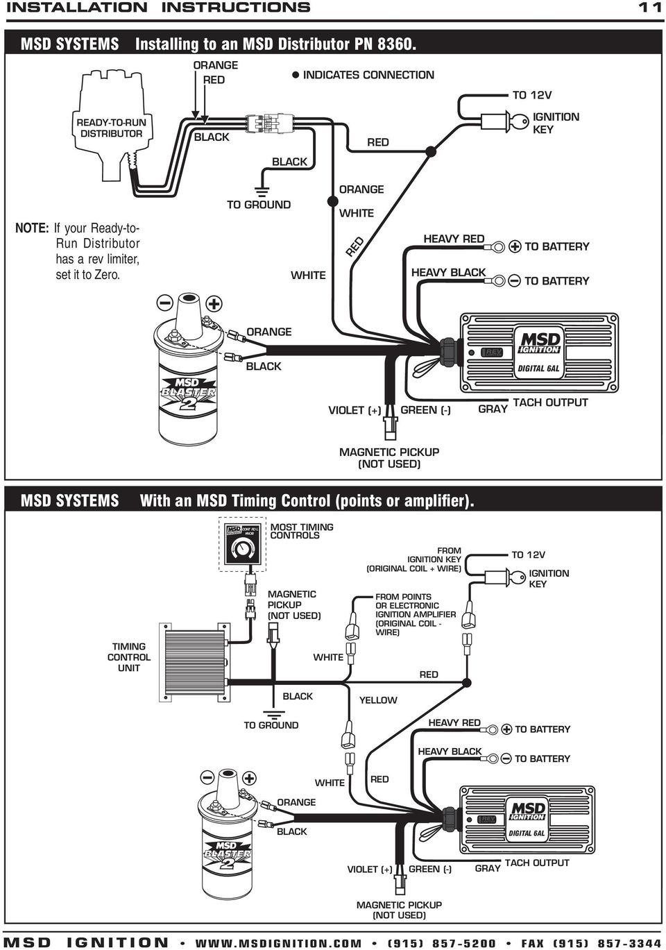 medium resolution of to ground msd systems with an msd timing control points or amplifier