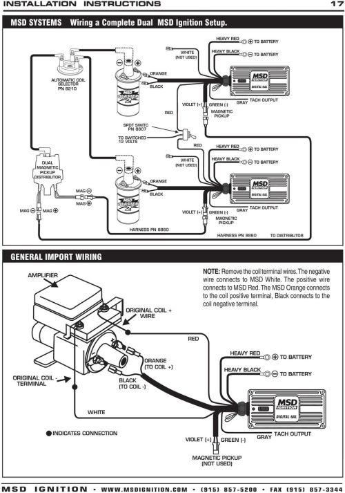 small resolution of msd digital 6a and 6al ignition control 6a pn 6201 6al msd wiring diagram 81 vette