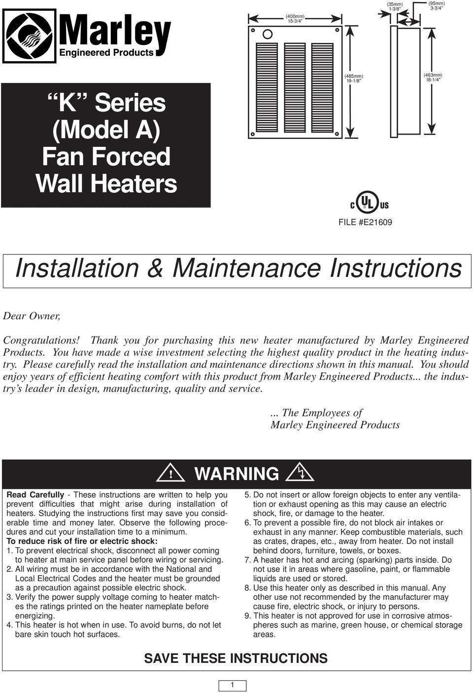 medium resolution of please carefully read the installation and maintenance directions shown in this manual you should enjoy