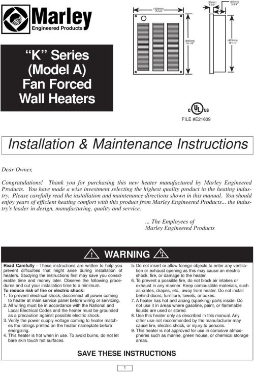small resolution of please carefully read the installation and maintenance directions shown in this manual you should enjoy