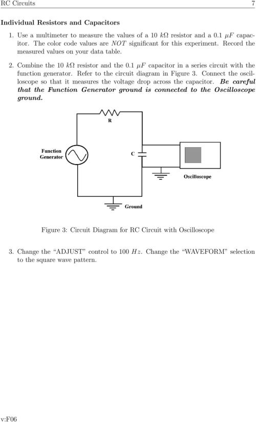 small resolution of 1 f capacitor in a series circuit with the function generator refer to the circuit