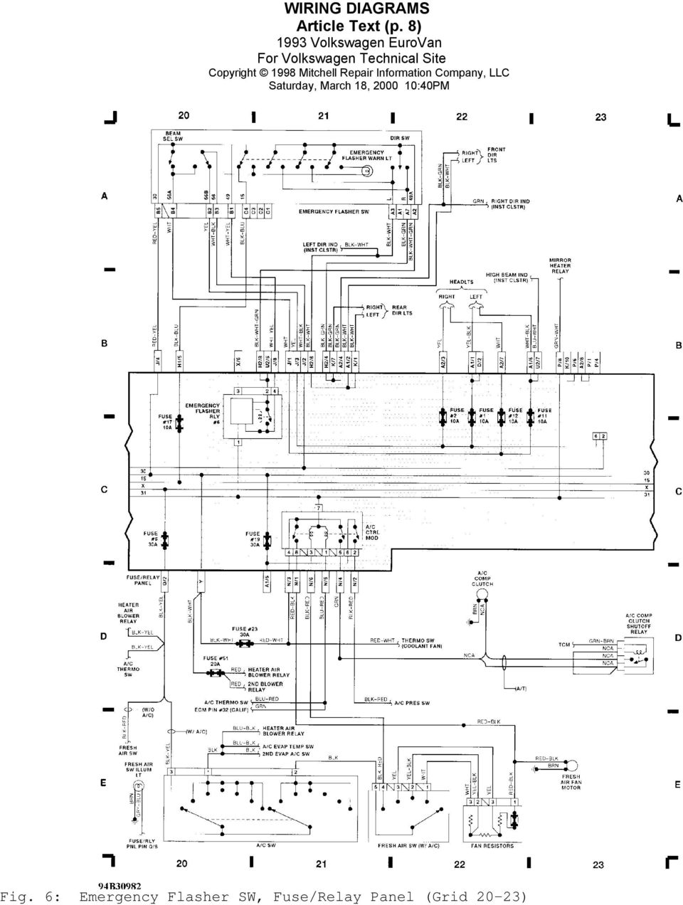 [WRG-9423] 2001 Eurovan Alternator Wiring Diagram