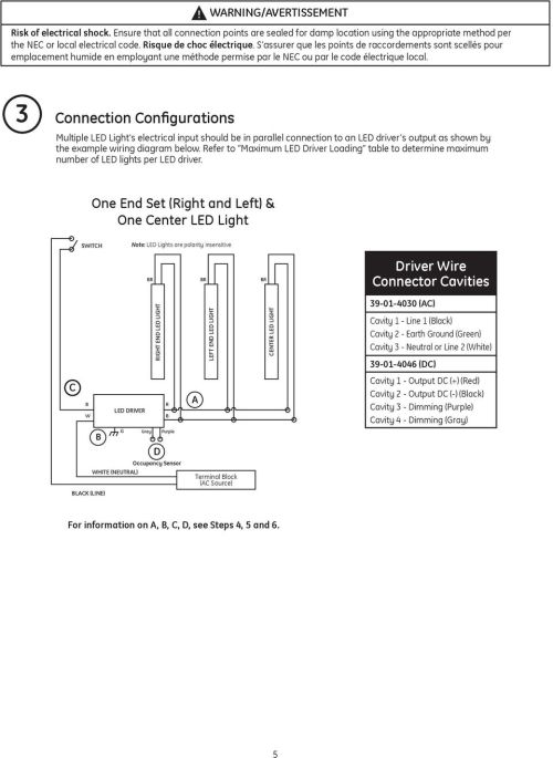 small resolution of connection configurations multiple led light s electrical input should be in parallel connection to an led