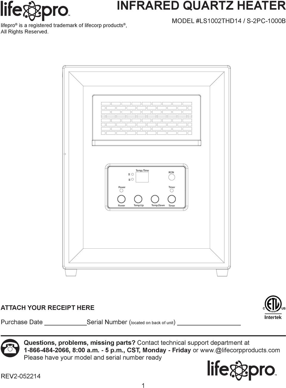 medium resolution of down timer attach your receipt here purchase date serial number located on back of unit