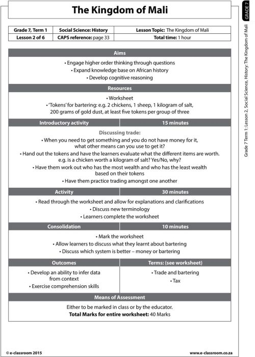 small resolution of The Kingdom of Mali. Read through the worksheet and allow for explanations  and clarifications Discuss new terminology Learners complete the worksheet  - PDF Free Download