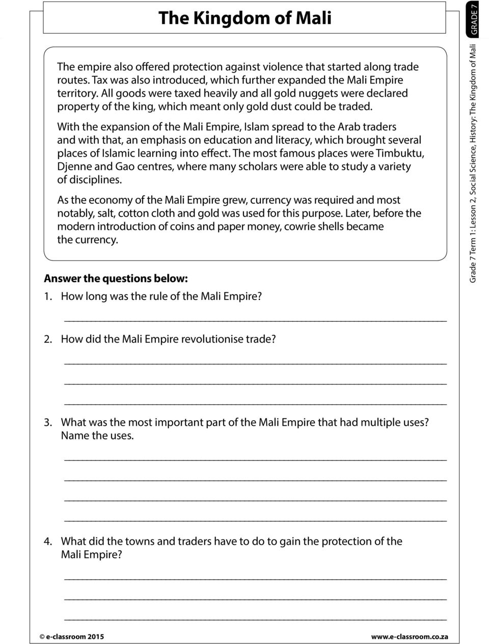 hight resolution of Grade 6 History Mapungubwe Worksheets - The Best Picture History